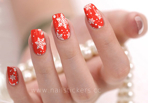 New Arrival 2D Type Fashion Beauty West Xmas Nail Supply