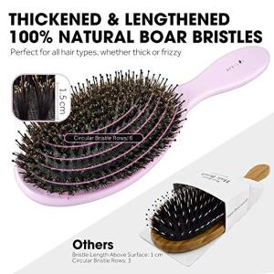 New Arrival Pink Wooden Hair Brush With Boar Bristles Mix Nylon,Private Label Hair Brush Boar Bristle Hair Brush Wholesale