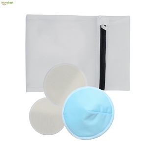 PUl waterproof material   bamboo washable  breast  nursing pad for women