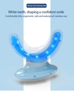 Rechargeable Blue Led Light Silicone Teeth Whitening Accelerator Wholesale Handle Silicone Mouth Tray