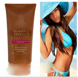 Sun tanning lotion with private label