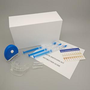 tooth whitening kits with teeth whitening gel syringe and mini teeth whitening led light