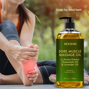 Wholesale private label natural organic lanvender relaxing anti cellulite massage body oil
