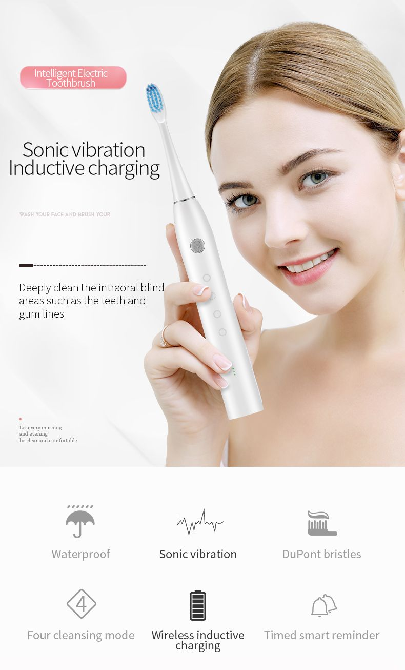 electric toothbrush / 2020 Sainbeauty New Sonic toothbrush + cleansing (two in one) sonic toothbrush electric