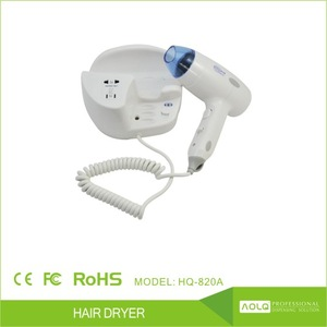 110/220V 1000W multi-functional ABS Plastic low noise hotel hair dryer