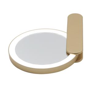 Custom color/logo 2021 new led mirrors Gold compact pocket mirror