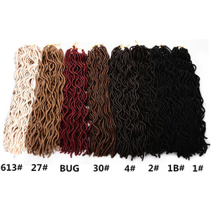 Faux Locs Curly Wavy Braiding Hair 24S Crochet Braids Hair Dreadlocks Locs Hair Extension