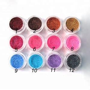 Mix color nail art laser acrylic powder body glitter the acryle brand polish beauty