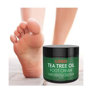 OEM Manufacturer Anti-fungal Repairing skin Moisturizing Tea Tree Oil Foot Cream Foot Care