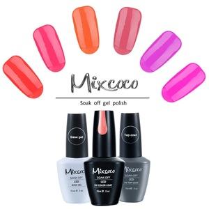 Professional uv gel nail supplies soak off colored led nail salon art gel polish for nails