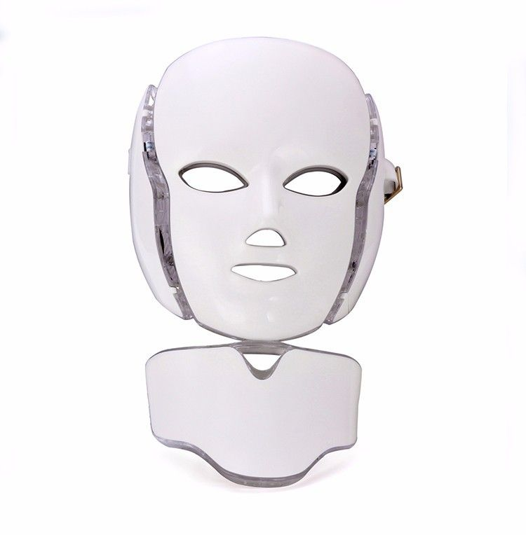 7 color led mask with neck care