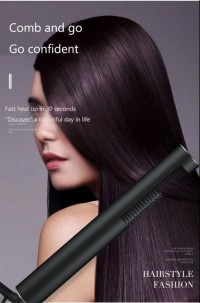 lazy straight curly hair comb/ SAIN Professional hair straighter ,circle iron with titanium plate