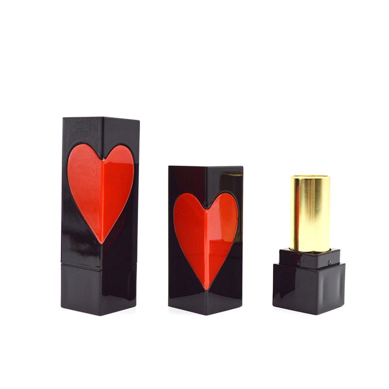 100% Wholesale Price Empty Lipstick Tube Black Magnetic Lipstick Bottle Customizable Logo Lipstick Tube