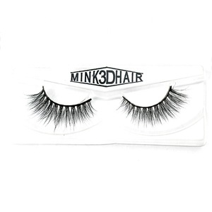 2019 China Supplier Wholesale cheap mink lashes clear band 3D