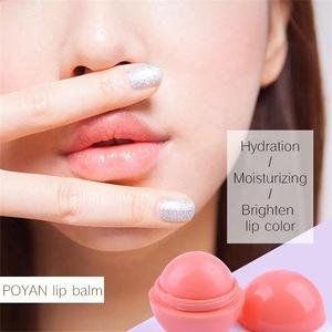 Custom Hot Sale Ball Shape Lip Balm Waterproof Moisture Lip Balm Ball