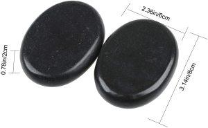 Heated Black Basalt Massage Stones Kit Xiamen Manufacturers Portable Sauna Spa Hot Stones 6pcs Body Foot Massager in Velvet Bag