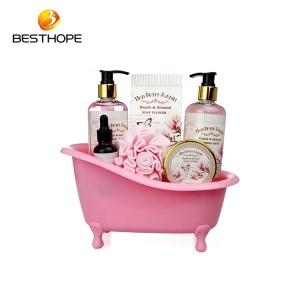 OEM/ODM Lady beautiful bathtub flower bath gift spa bubble set