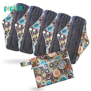 Popfish PUL Waterproof Fabric Antibacterial Bamboo Reusable Cloth Menstrual Sanitary Pads