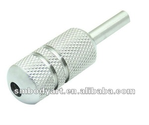professional 304 stainless steel high polish round tattoo grip