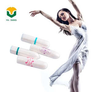 Regular absorbency private label organic cotton tampon