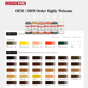 TATTO INK / OEM / ODM Micro Semi Permanent Makeup Pigment of cream type / Tattoo Ink / DOREME