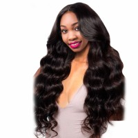 Brazilian Body Wave Pre Plucked Full Lace Human Hair Wigs With Baby Hair Natural Black Remy Hair Wigs For Woman