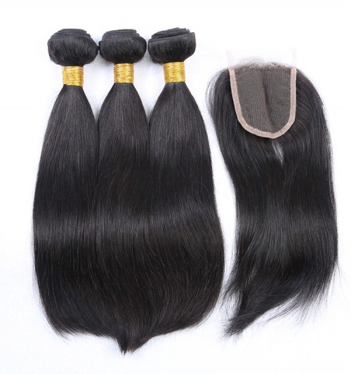 HD lace human hair bundles, closures with factory price