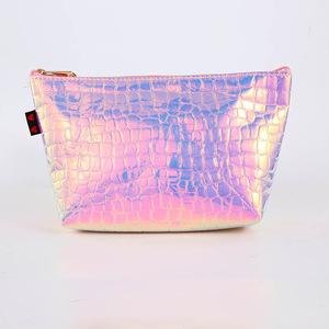 2018 China Factory fashion Holo PU Cosmetic Bag Makeup