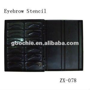 3D Effect Eyebrow Shape design stencil