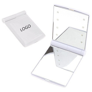 Battery Operated Desktop Makeup Mirror Led Lady Pocket Makeup Mirror