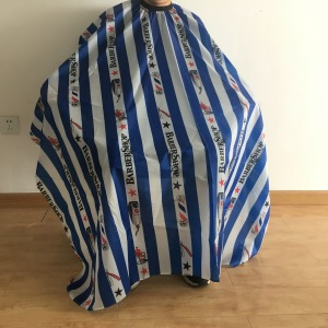 Custom hair cutting barber capes pattern with logo