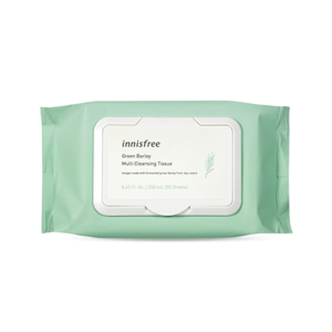 Korean Innisfree Green Barley Multi Cleansing Tissue 250ml ( 50 Sheets )