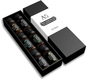 OEM 100% Pure and Natural Aromatherapy Essential Oil Gift Set 6 Bottles-Orange,Lemon,Rosemary,lavender,Peppermint and Tea Tree