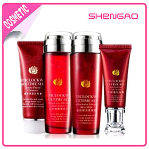 OEM Cosmetic Black Skin Whitening Cream Set