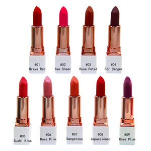 Wholesale no logo private label high pigment matte lipstick
