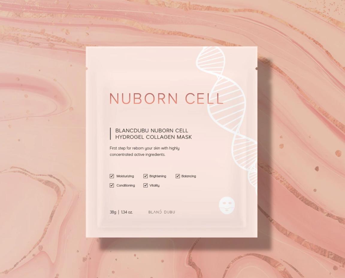 Nuborn Cell Hydrogel Collagen Mask Pack Korean Skincare Kbeauty Hydrolyzed Collagen