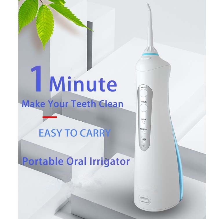 ORAL IRRIGATOR USB RECHARGEABLE WATER FLOSSER PORTABLE DENTAL WATER JET 200ML WATER TANK WATERPROOF IPX7 LEVEL TEETH CLEANER