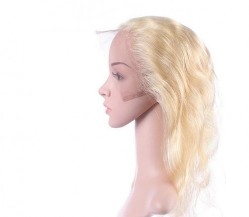360 frontal blonde color