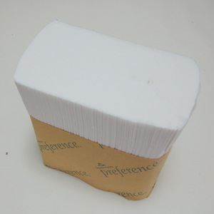 2ply pre-cut singlefold interleaved toilet tissue