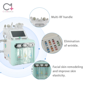 6 in 1 h2o2 small bubble acne removal diamond hydra microdermabrasion skin care oxygen injector jet peel machine for sale
