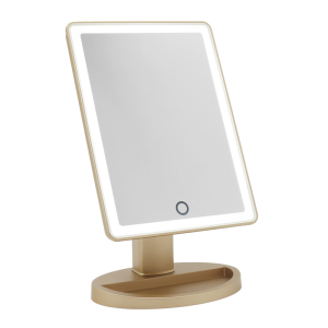 Classic square desktop table cosmetic beauty Mirror led makeup mirror with lights