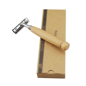 Eco-Friendly Bamboo handle Safety Razor Twin Blade wholesale