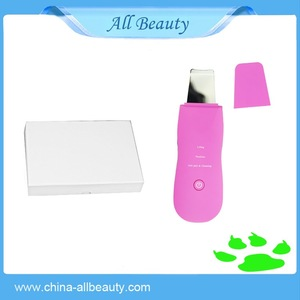 face home use mini ultrasonic skin scrubber device/ scrubber