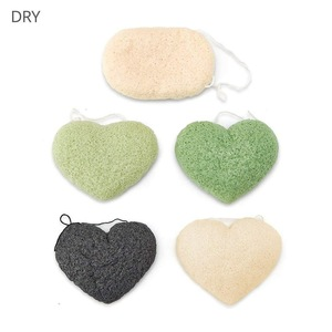 facial cleansing konjac sponge with Bamboo Charcoal made in China
