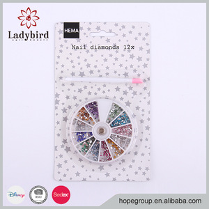 Latest product newest design colorized diamond nail art product