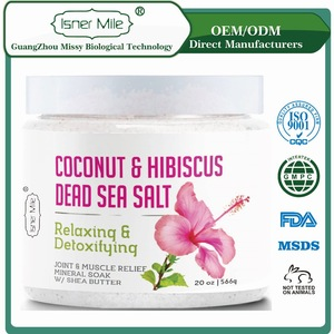 [MISSY] OEM / ODM Private label Natural Relaxing and Detoxfying Coconut and Hibscus Dead Sea Salt