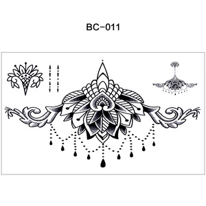 New Fashion Waterproof Magic Sexy Body Adhesive Temporary Tattoo Sticker