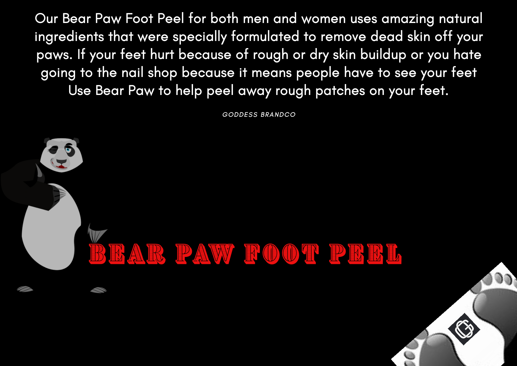Bear Paw Feet Peel
