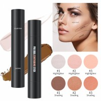 Cross-border Makeup Double Head concealer Three-dimensional Repair and Brighten the Face Highlight concealer Pen Color Repair Stick customized by ODM processing manufacturers