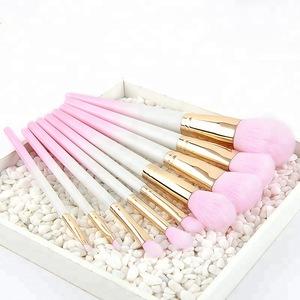 2019 New Arrival 9pcs makeup brushes set pink/white synthetic bristles makeup brushes kit foundation/eye brushes makeup tool